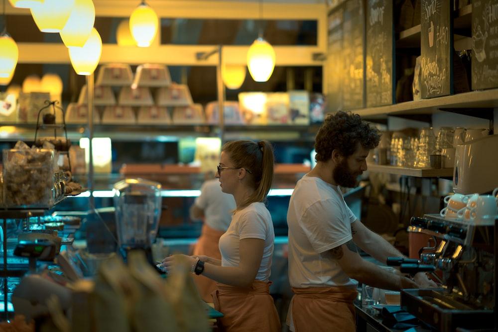 crew inside eatery
