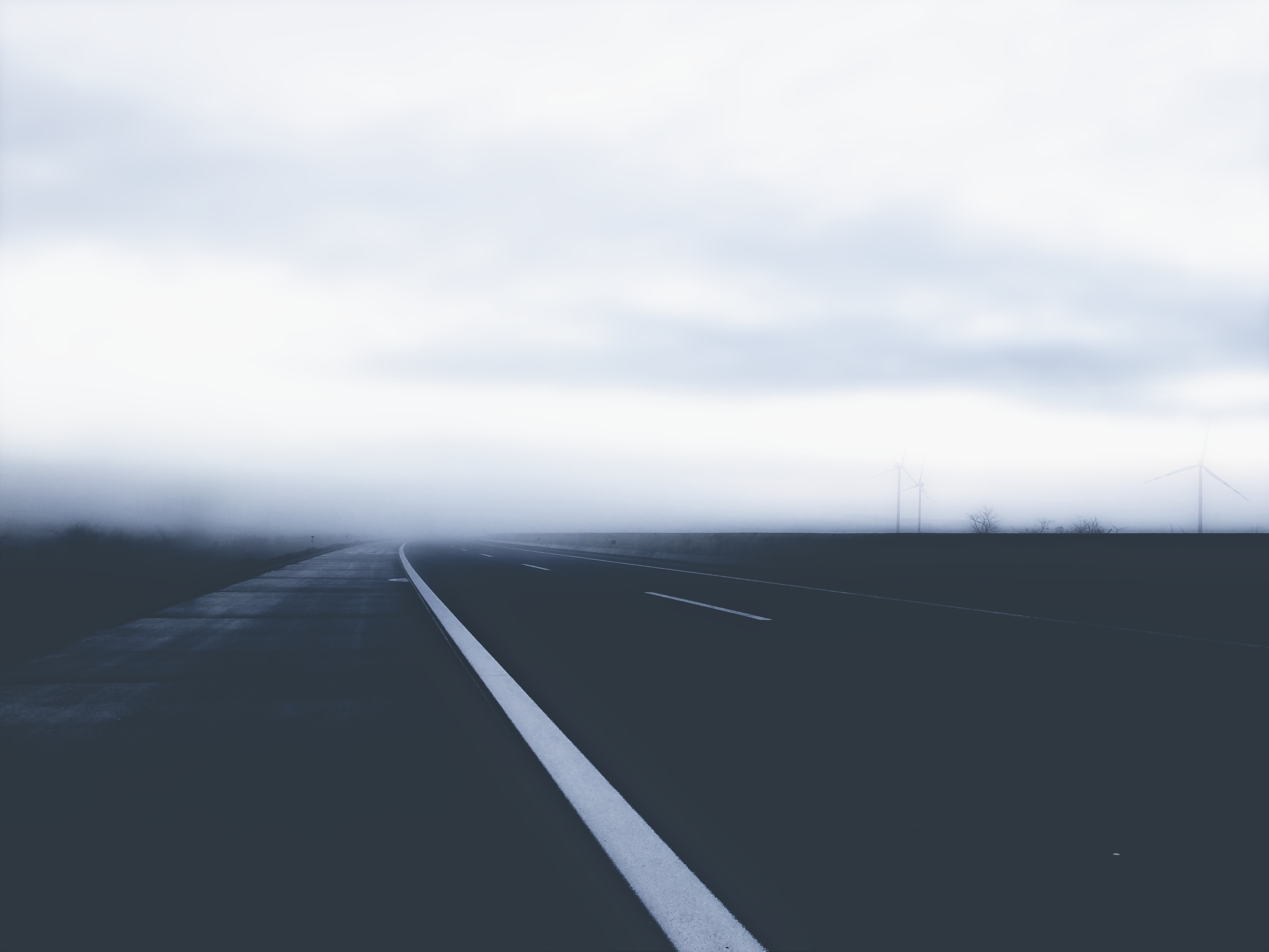 scenery of empty road