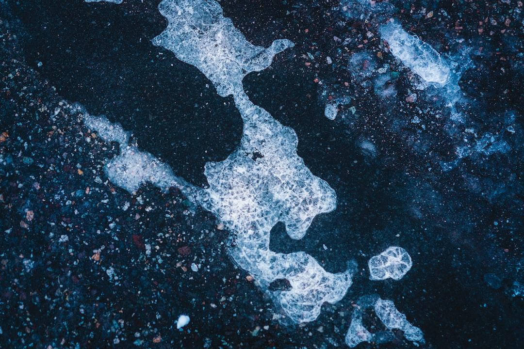 Frozen winter road surface