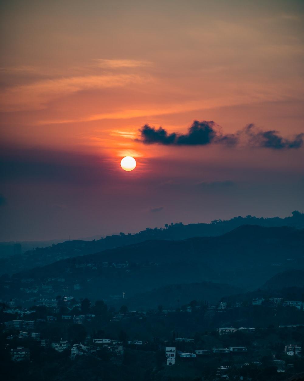 city under sunrise