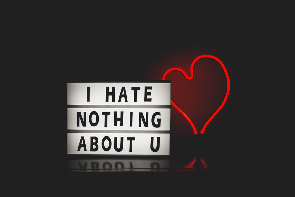 i hate nothing about u beside heart graphic, non-judgemental