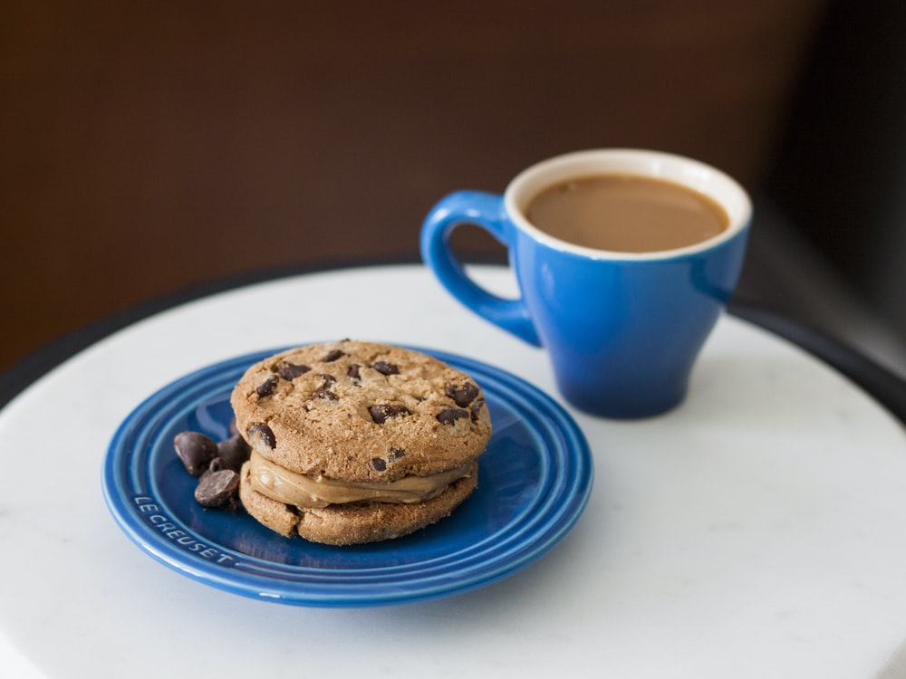 chocolate cookie on plate