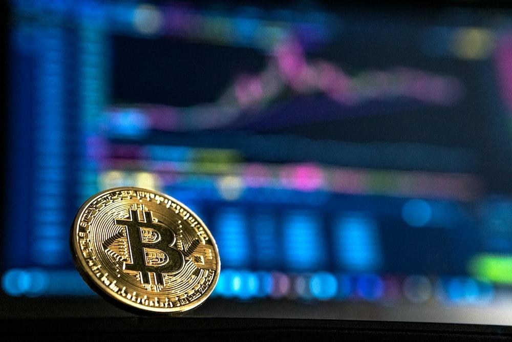 gold-colored Bitcoin