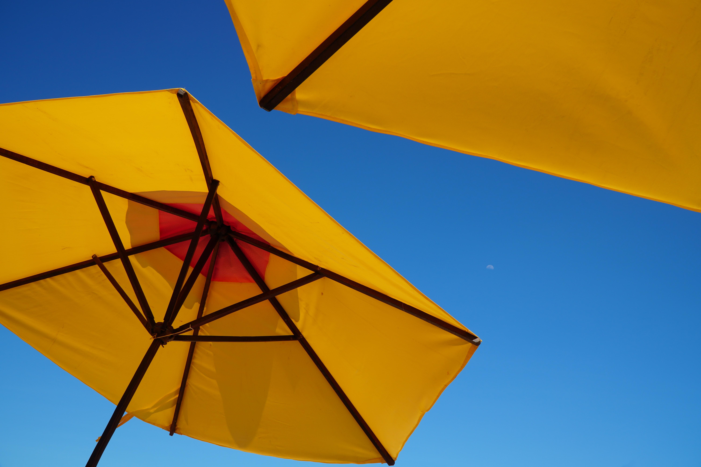 yellow patio umbrella