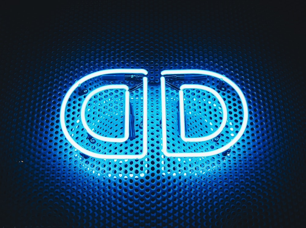 blue neon light signage