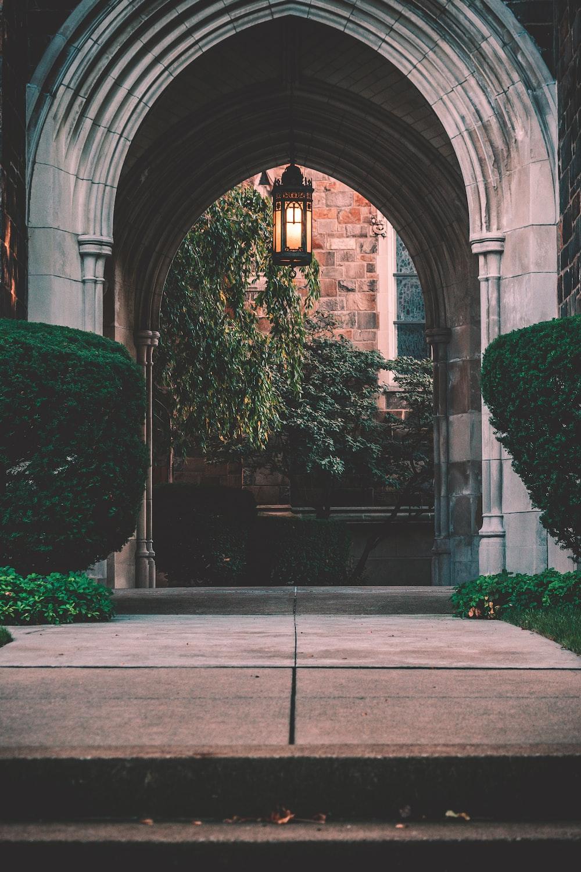 facade of arch entrance