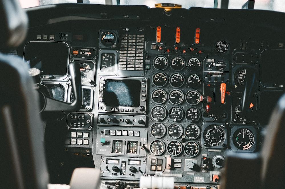 black vehicle control panel