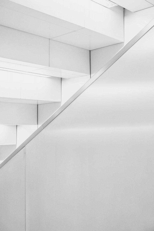 photo of white ceramic stair
