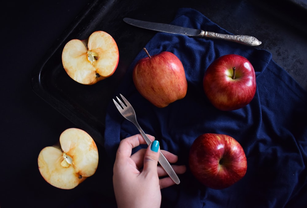 apples and slice of apple