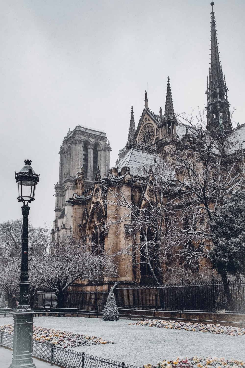 architectural photography of gothic building