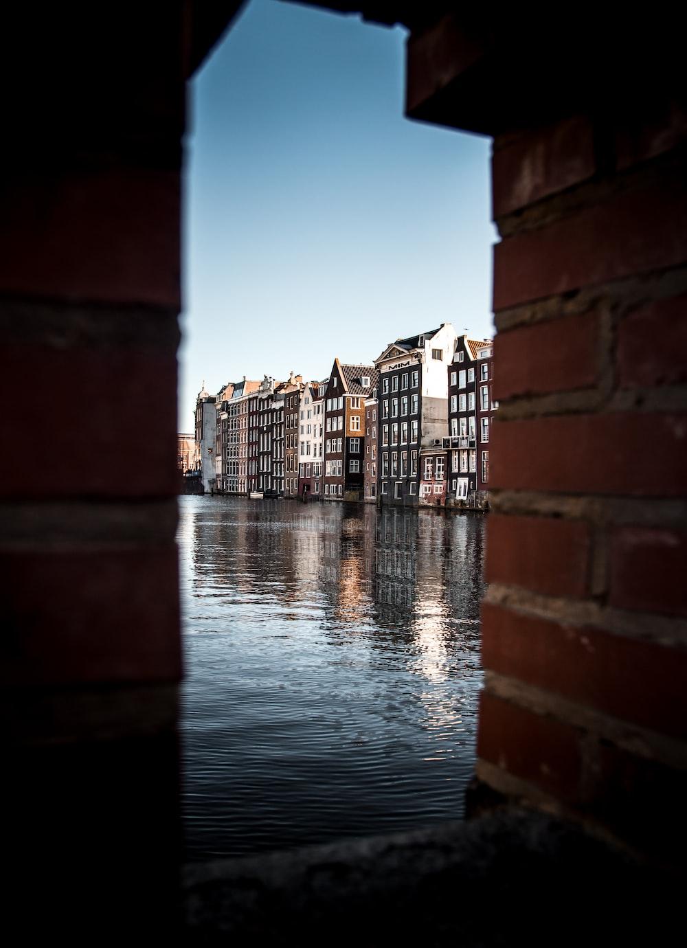 buildings near body of water
