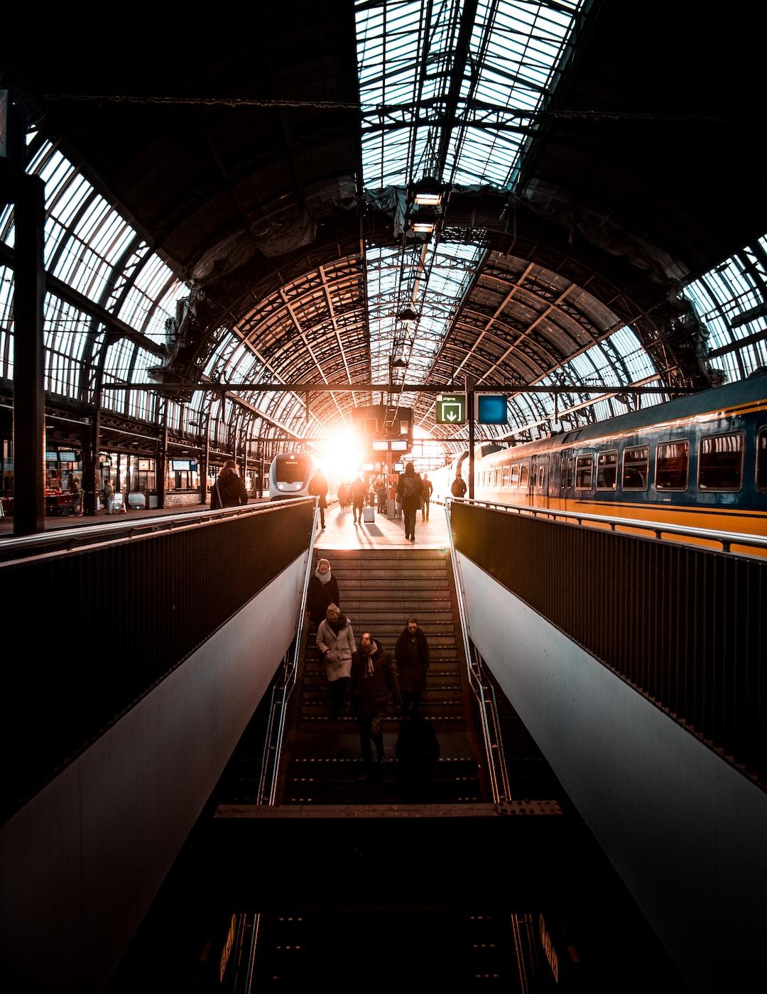 Sunset @ the Amsterdam Trainstation