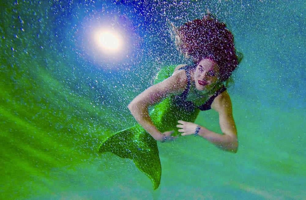 green mermaid illustration