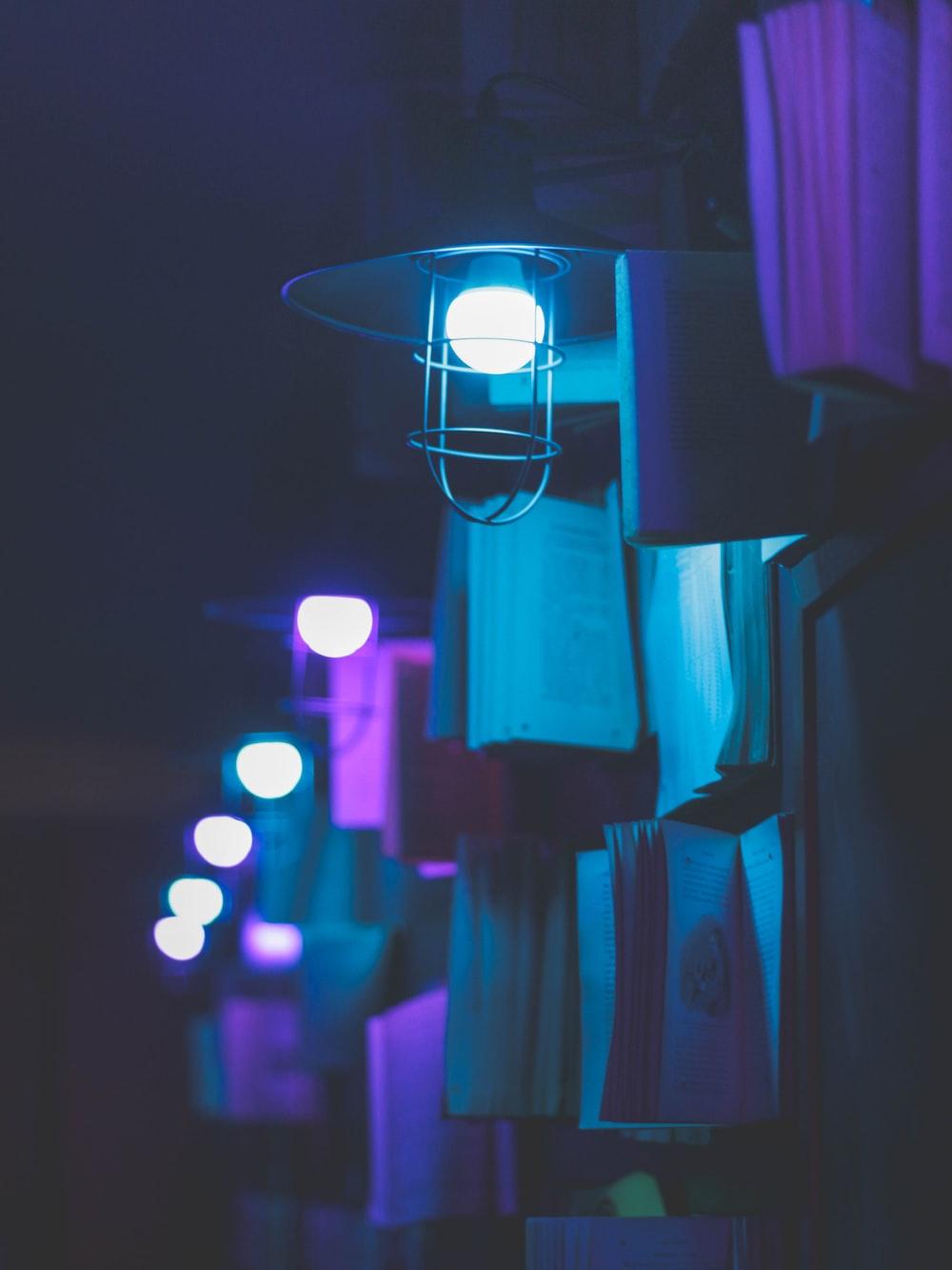 white LED bulb in the dark
