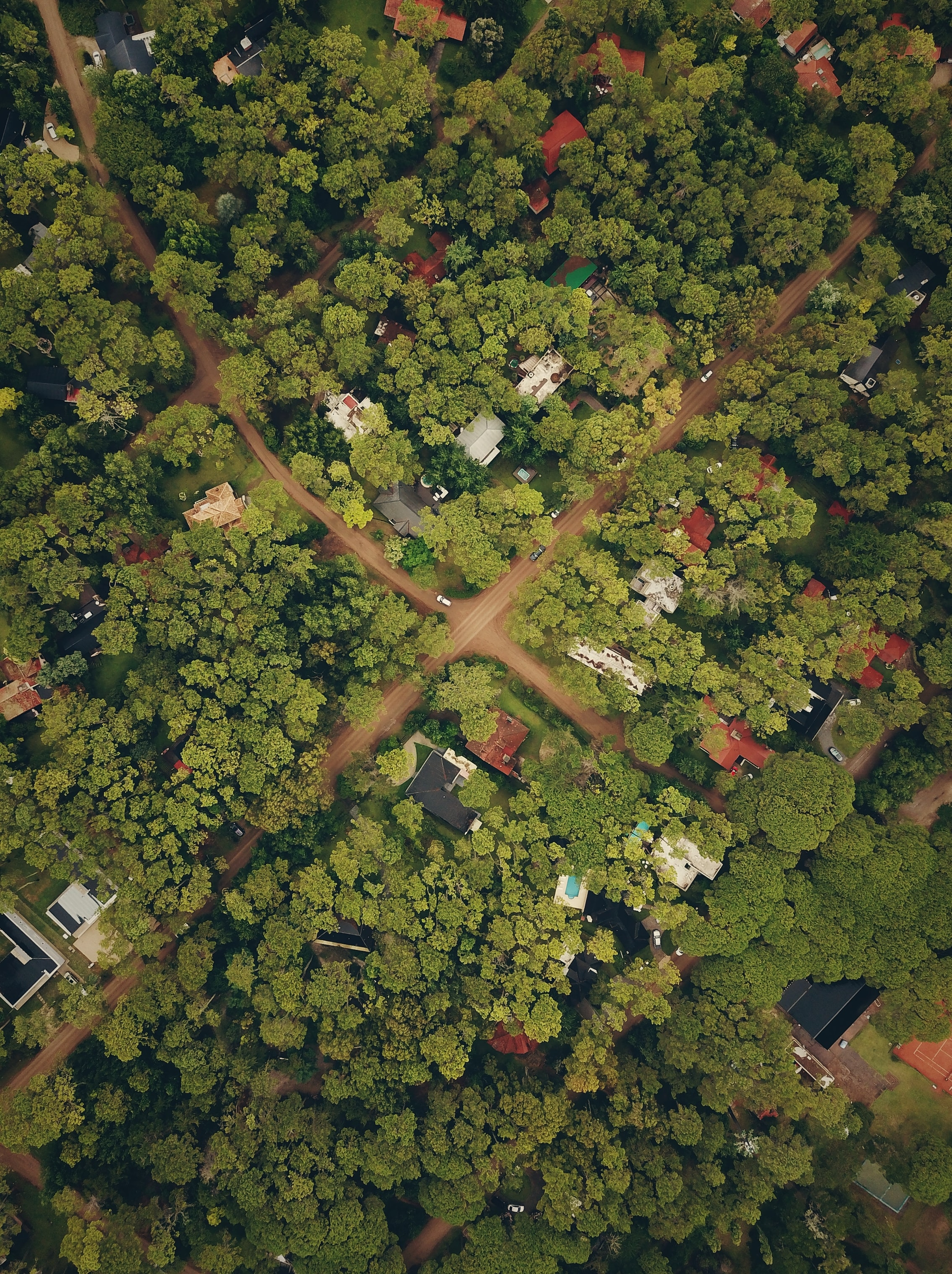 aerial view photography of village during daytime