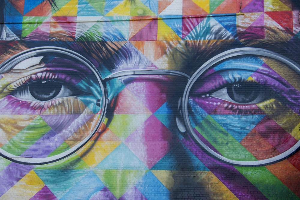 John Lennon abstract painting