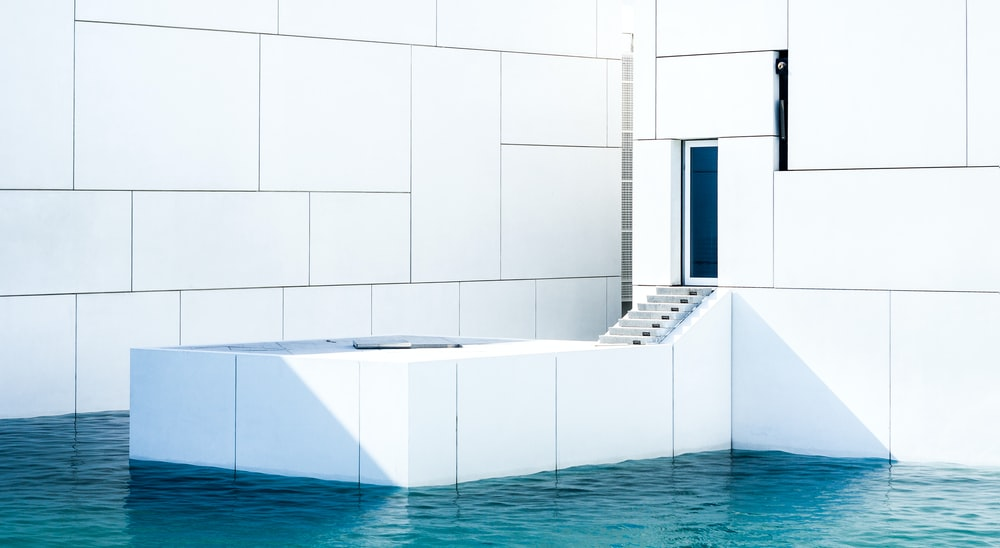 staircase into a pool