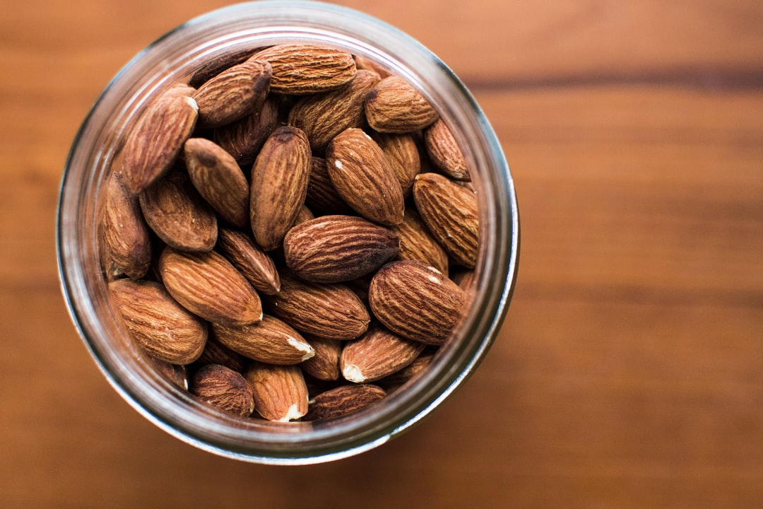 Closeup Almonds