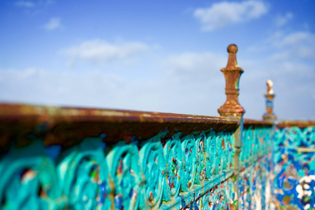 Rusty Promenade Railing