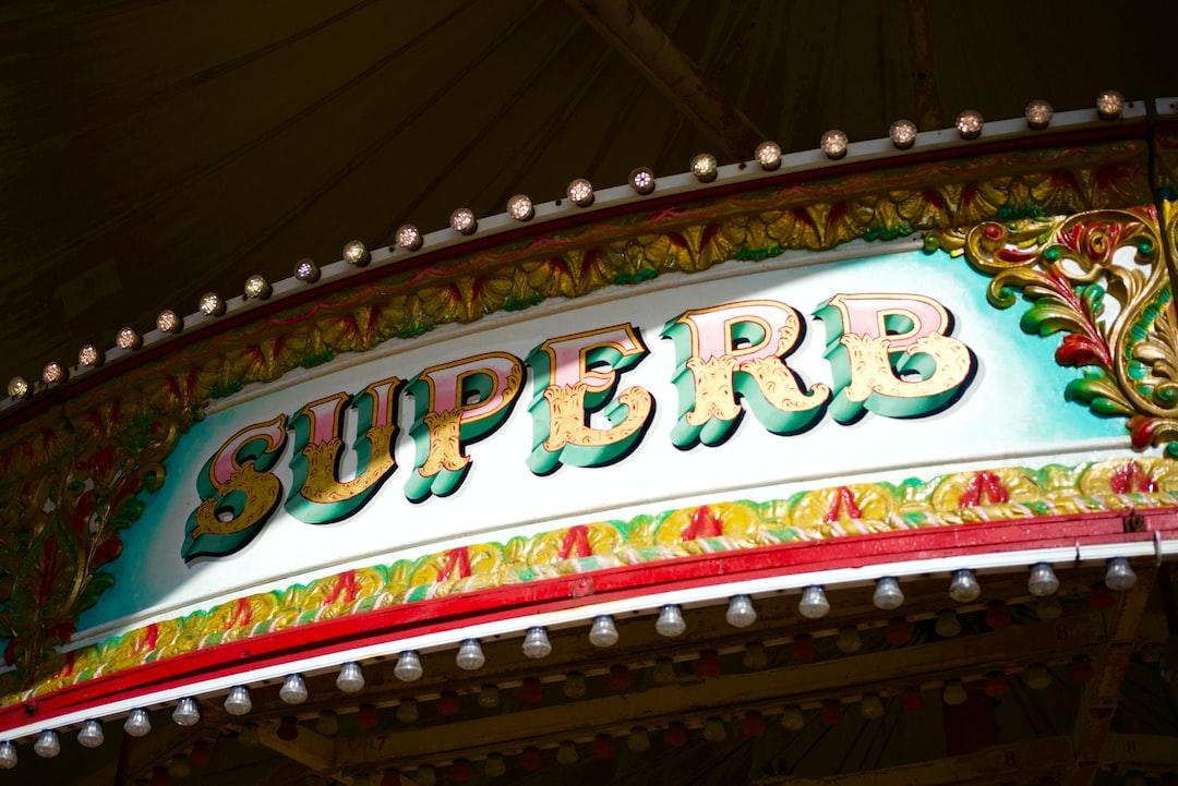 Funfair Merry-Go-Round Sign, Superb