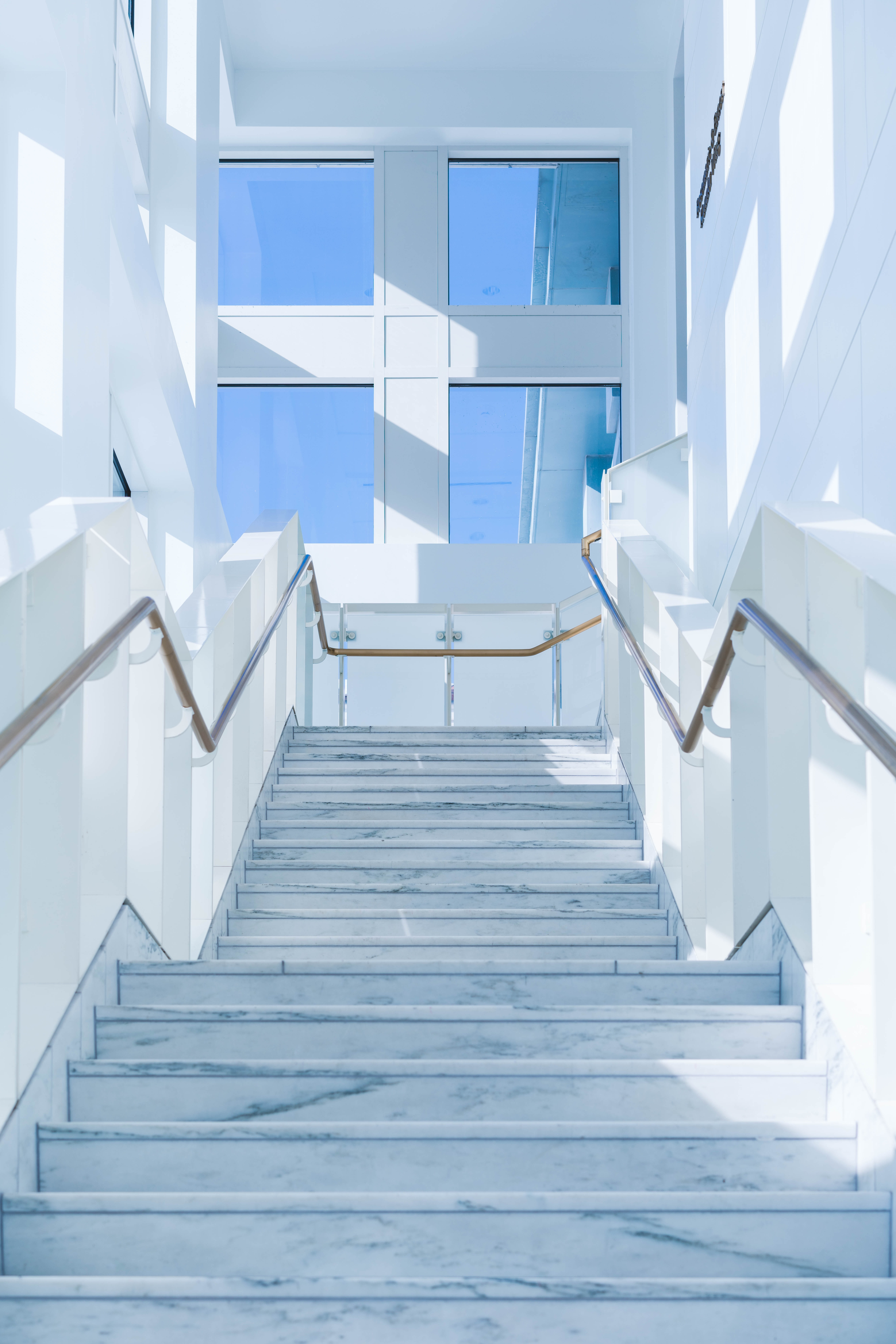 white wall paint stairs