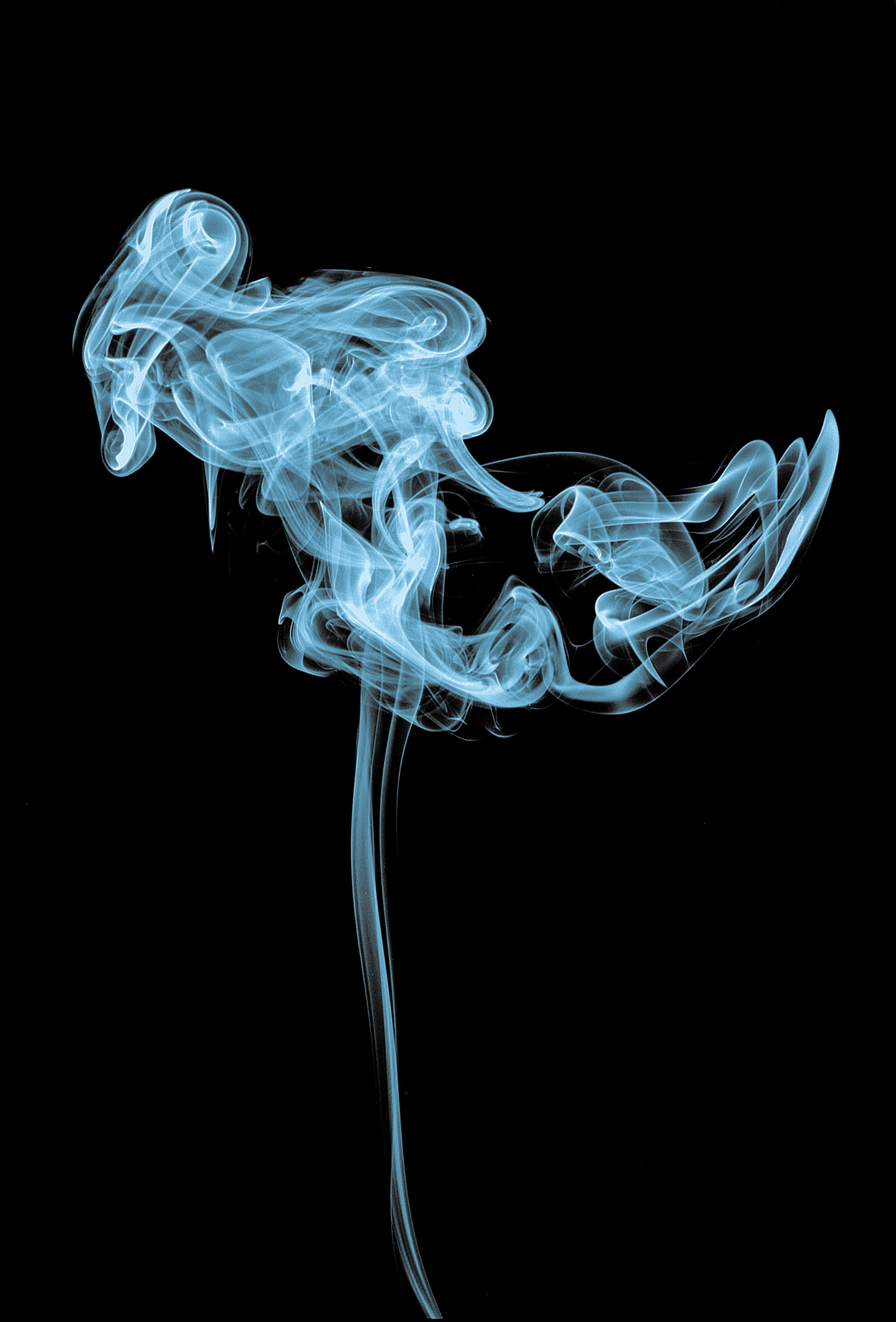 white smoke inside the dark room