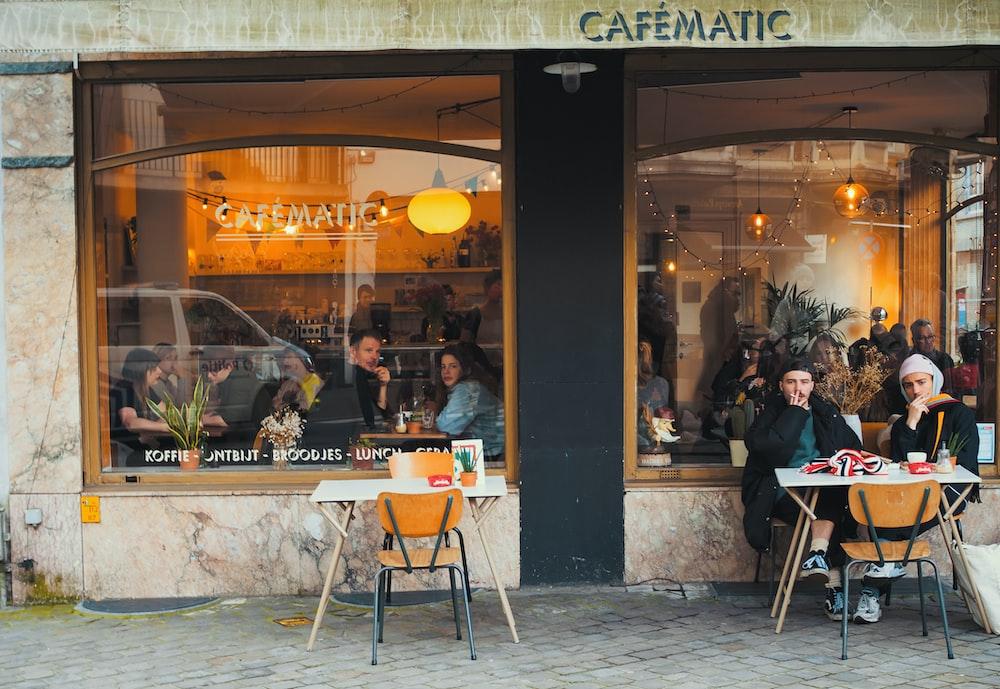 people sitting inside cafe