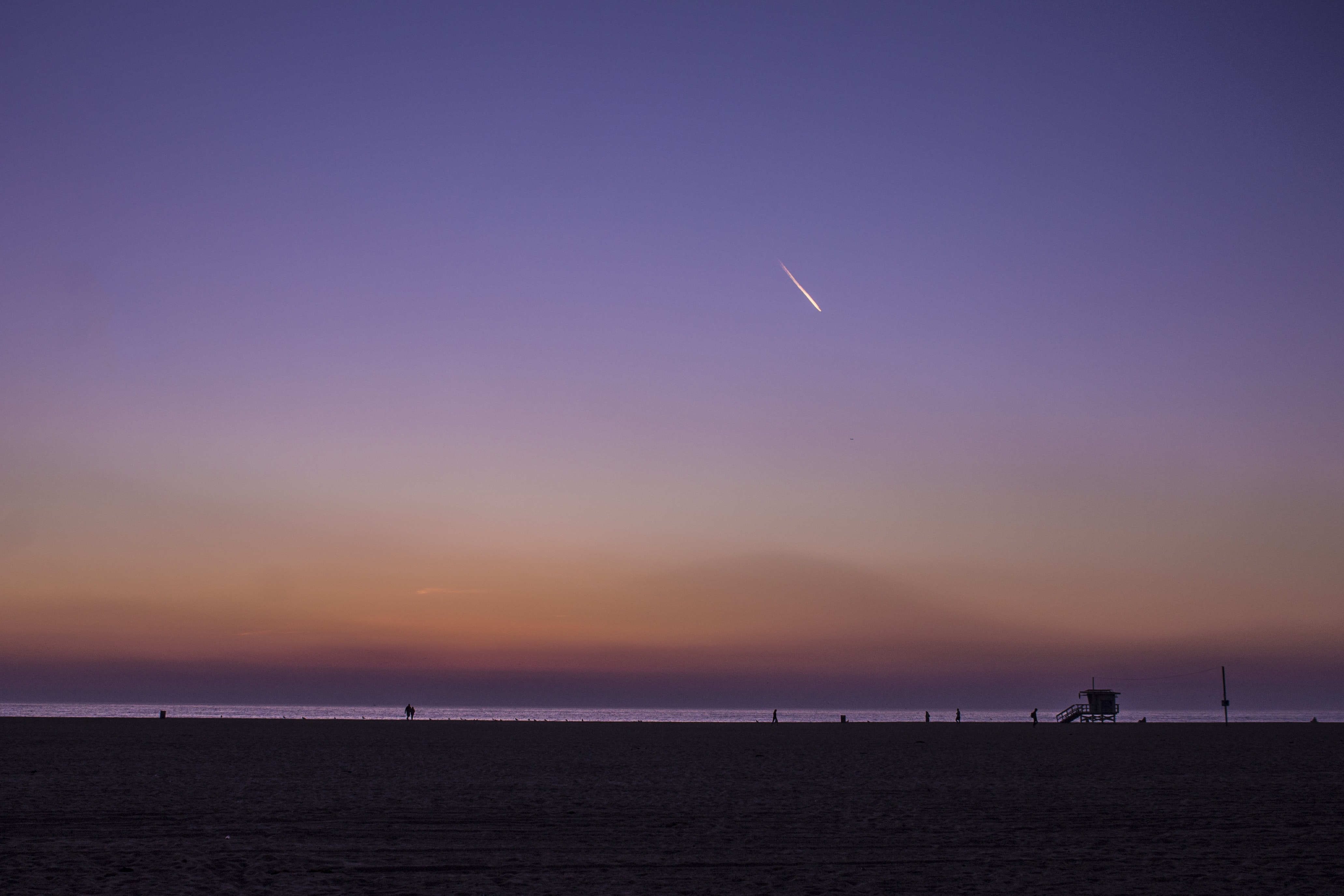 time lapse photography of shooting star