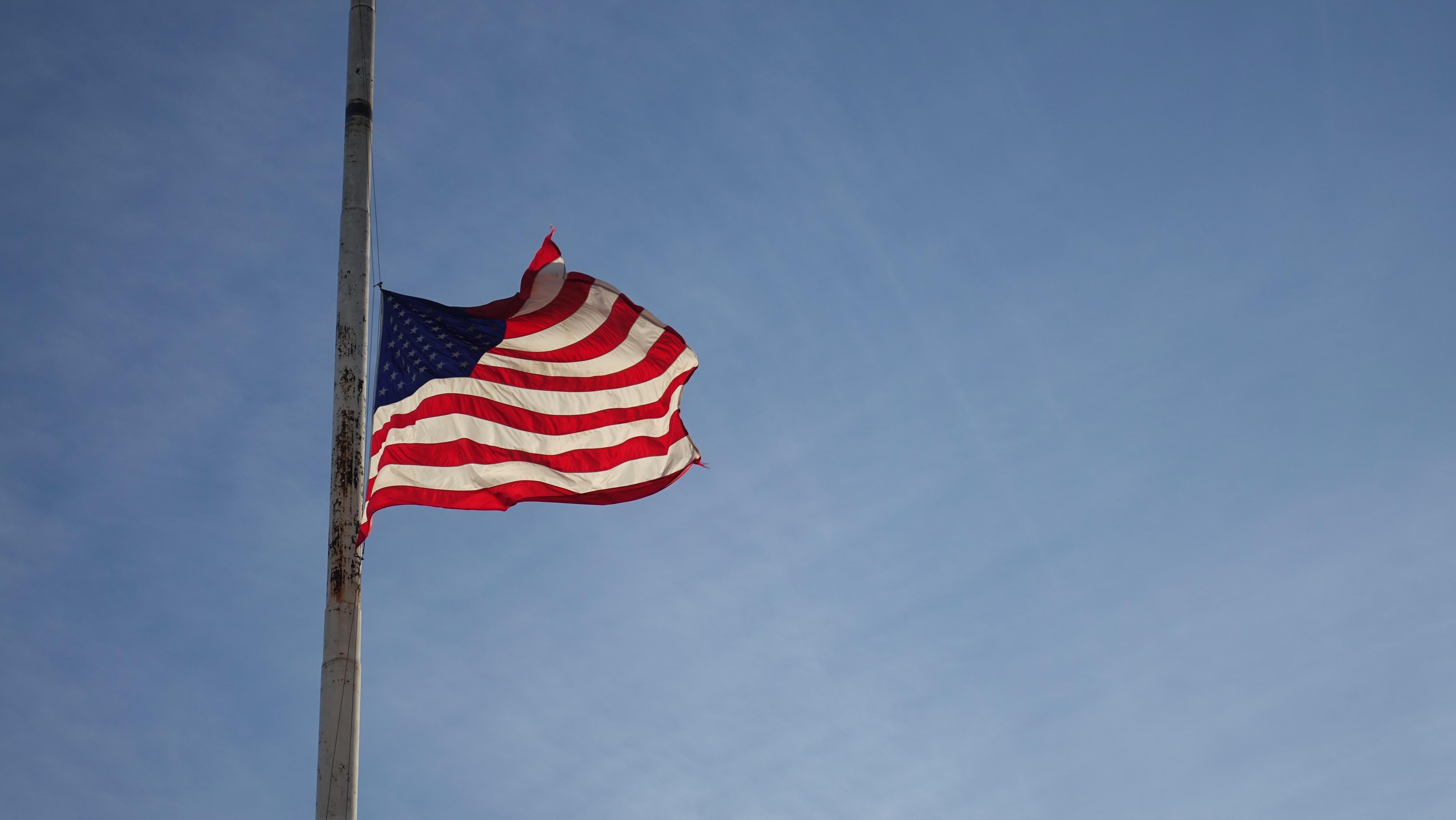 America flag on pole