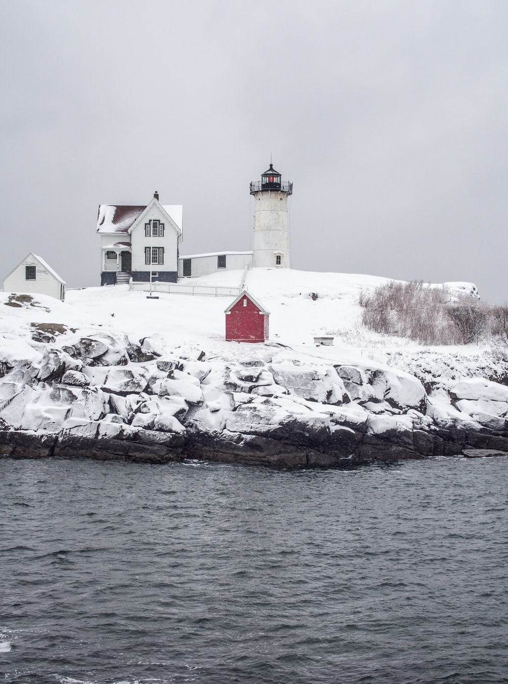 lighthouse and house in the island