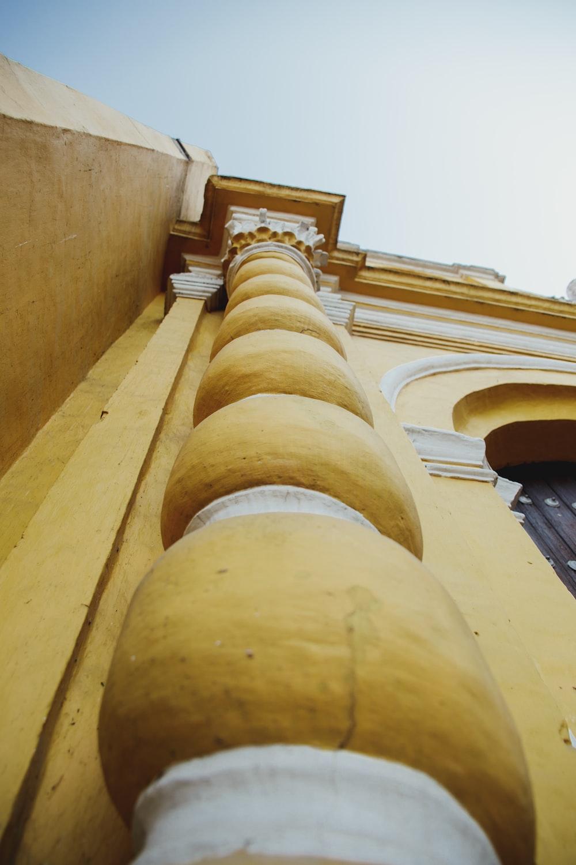 worm's-eye view of pillar
