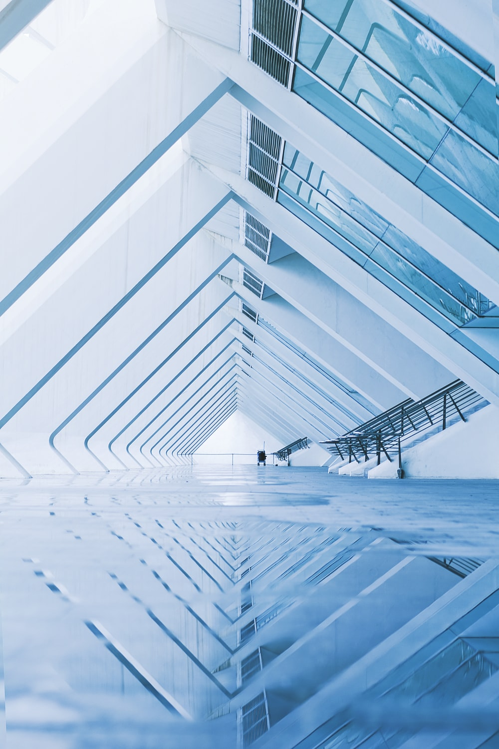 architectural photography of white concrete structure