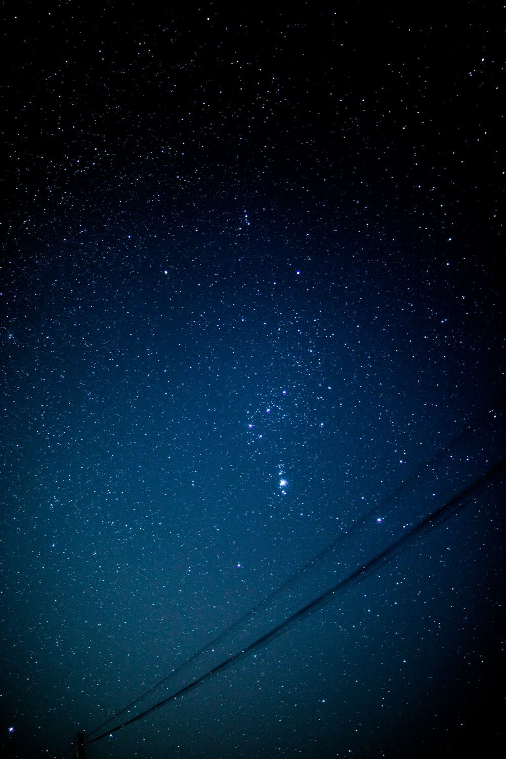 long exposure photography of stars