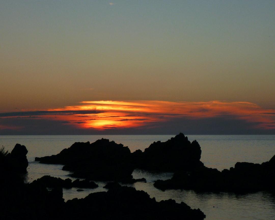 Sunset in Sado Island
