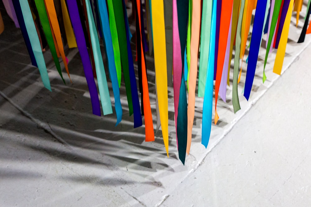 assorted-color hanging decors