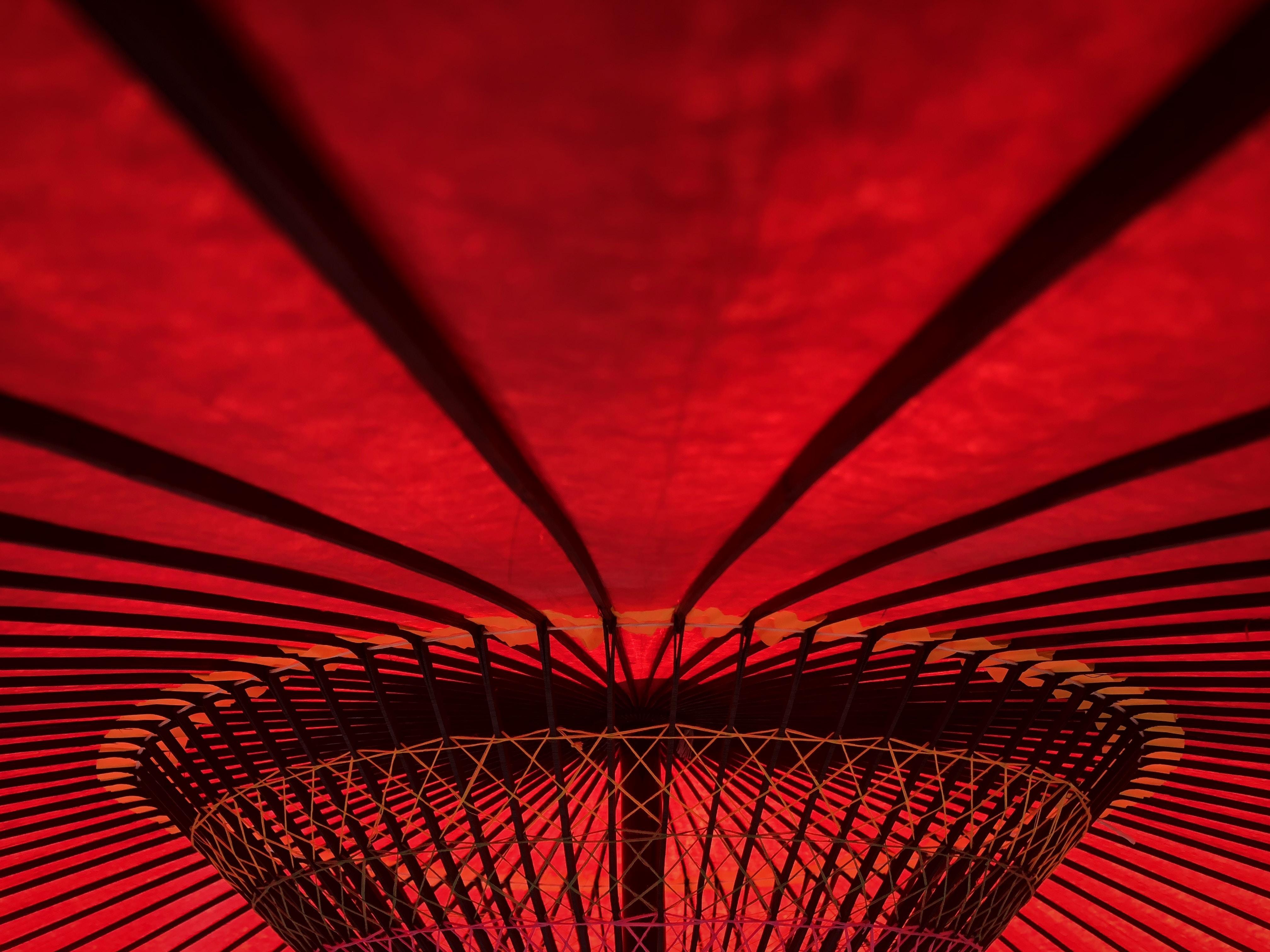 red umbrella interior
