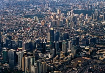 aerial photography of cityscape philippines teams background