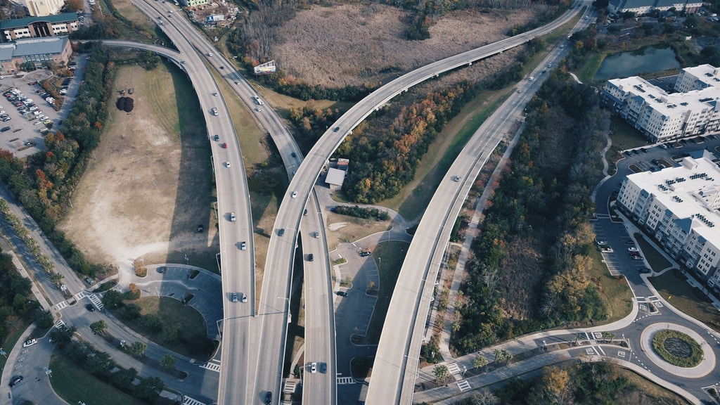 aerial photography of cars on concrete road during daytime