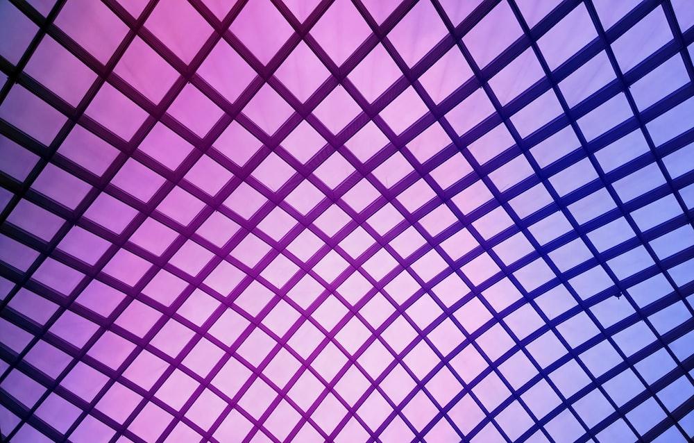 black and purple mesh illustration