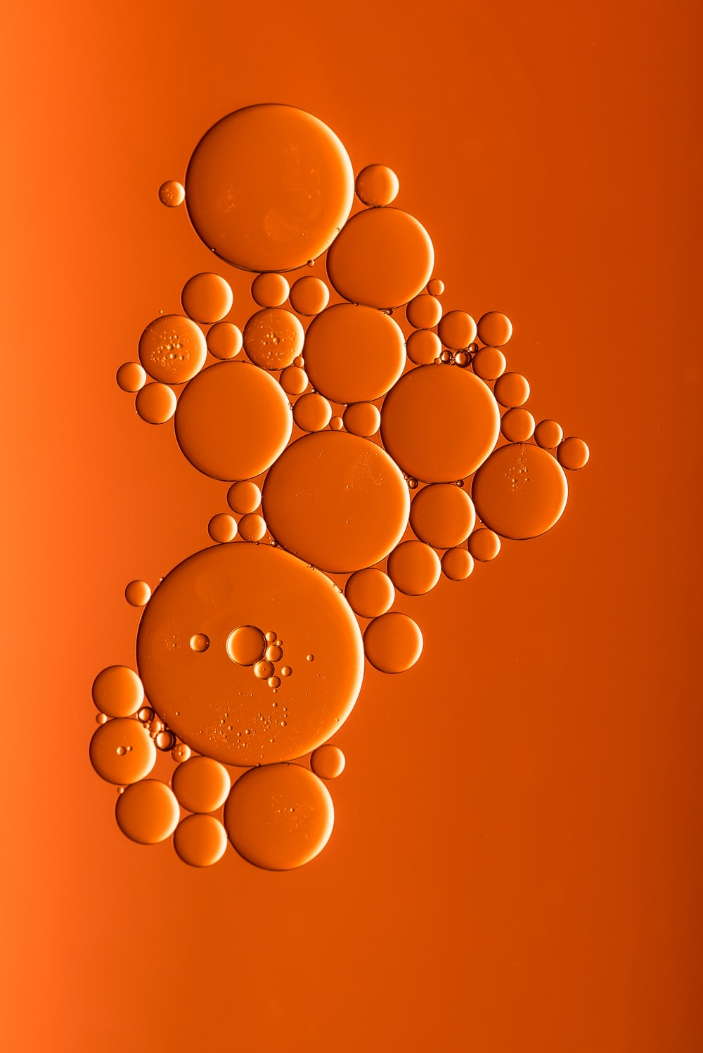 orange bubbles art
