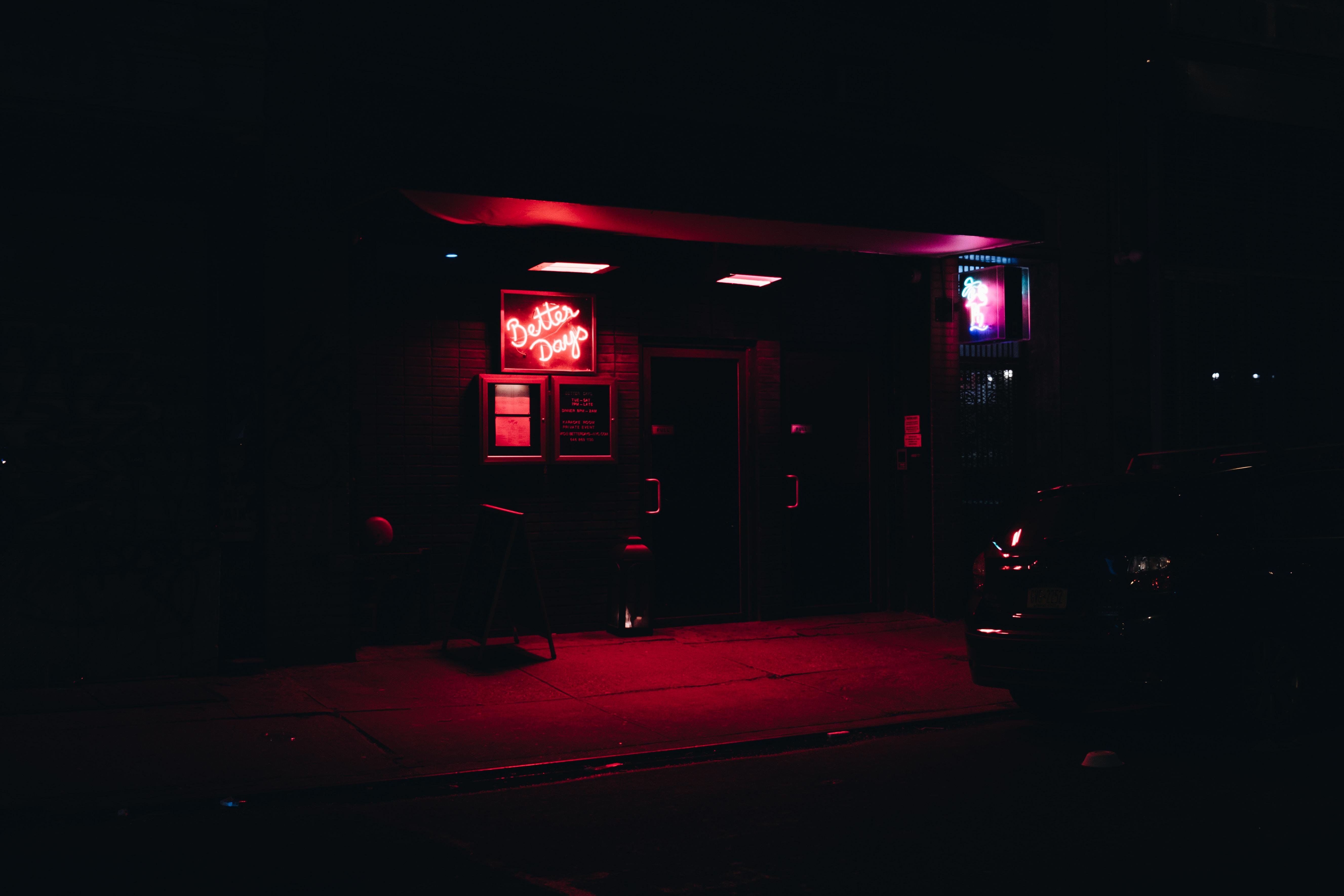 Better Days neon light signage bars