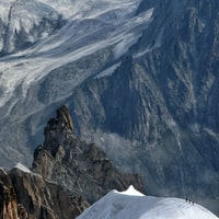 bird's eye view of rock mountain peak