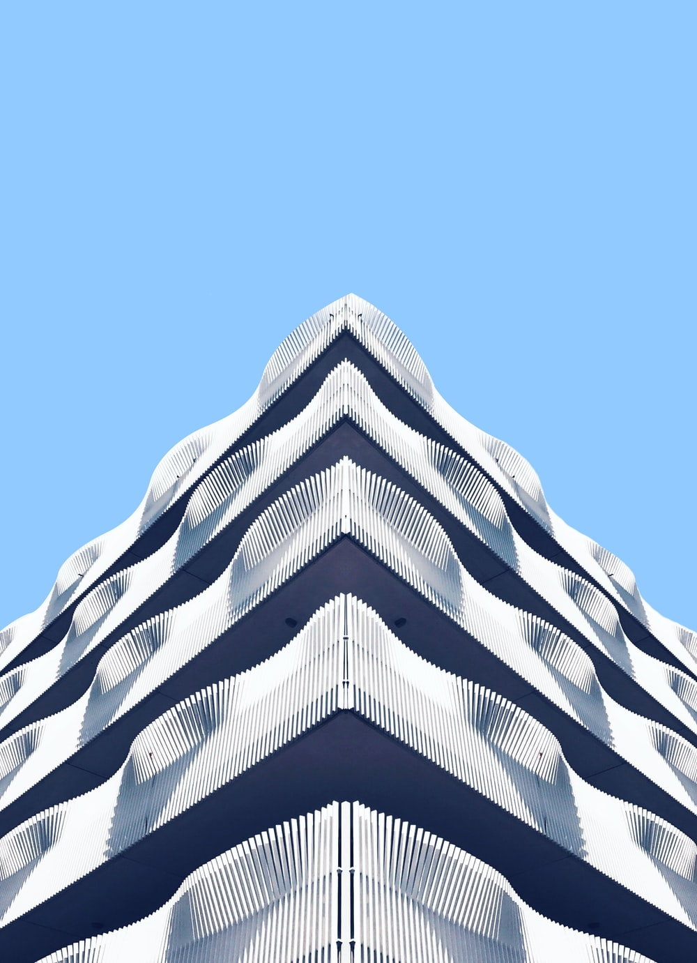 architectural photography of white structure