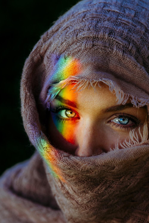 portrait photography of woman