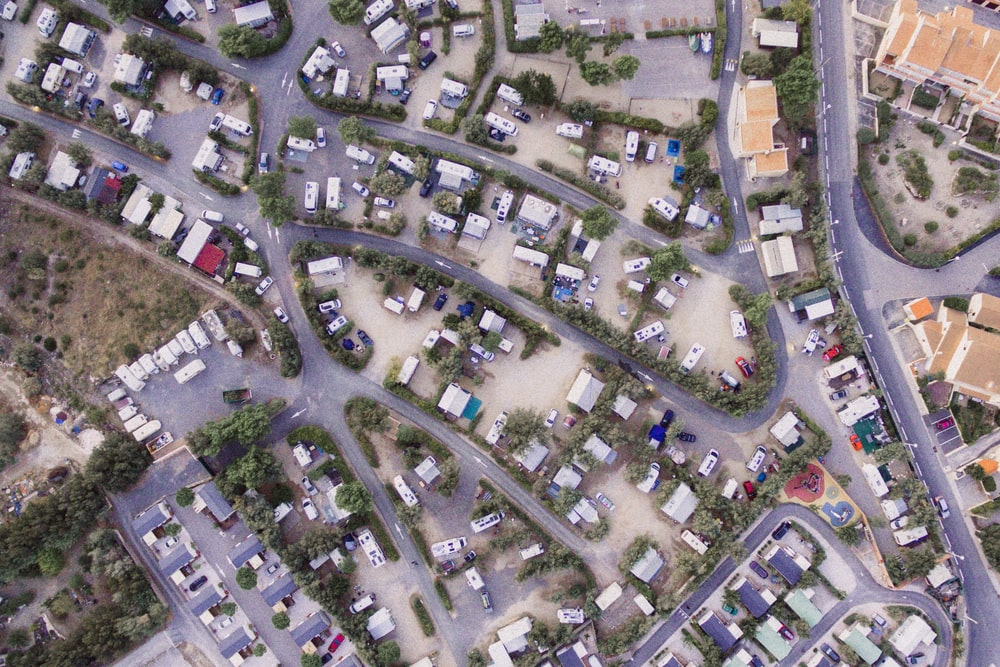 aerial photography of road and houses