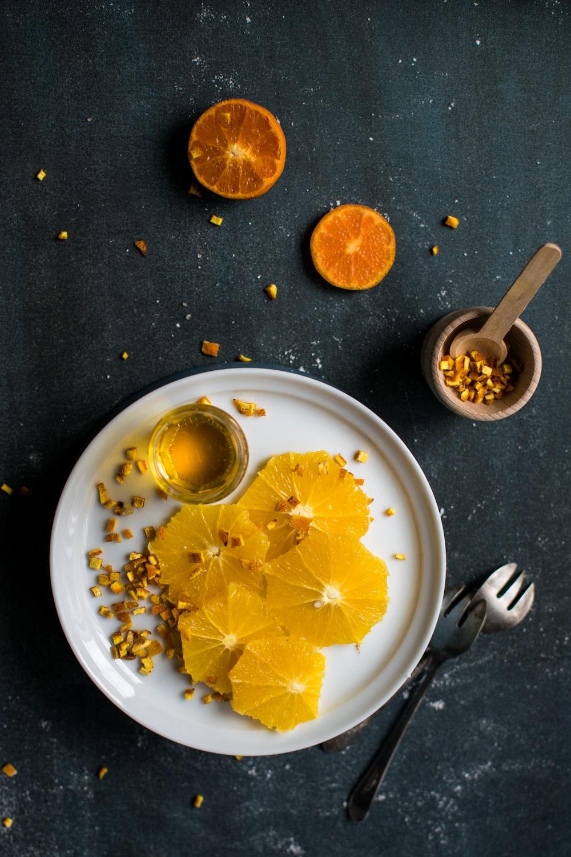 lemon serve on white plate