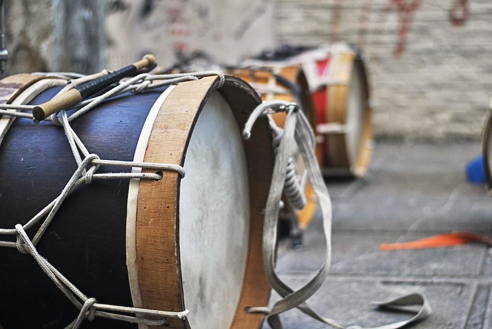 closeup photo of black drum