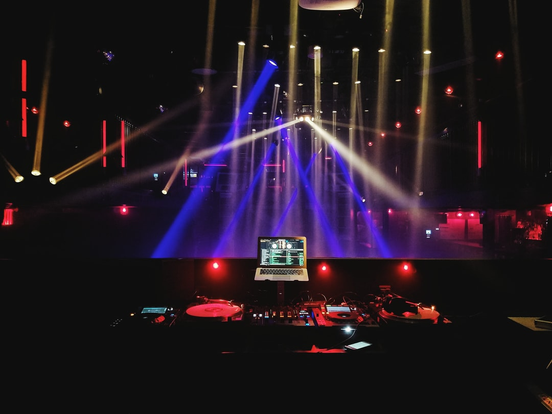 Stage with colorful lights