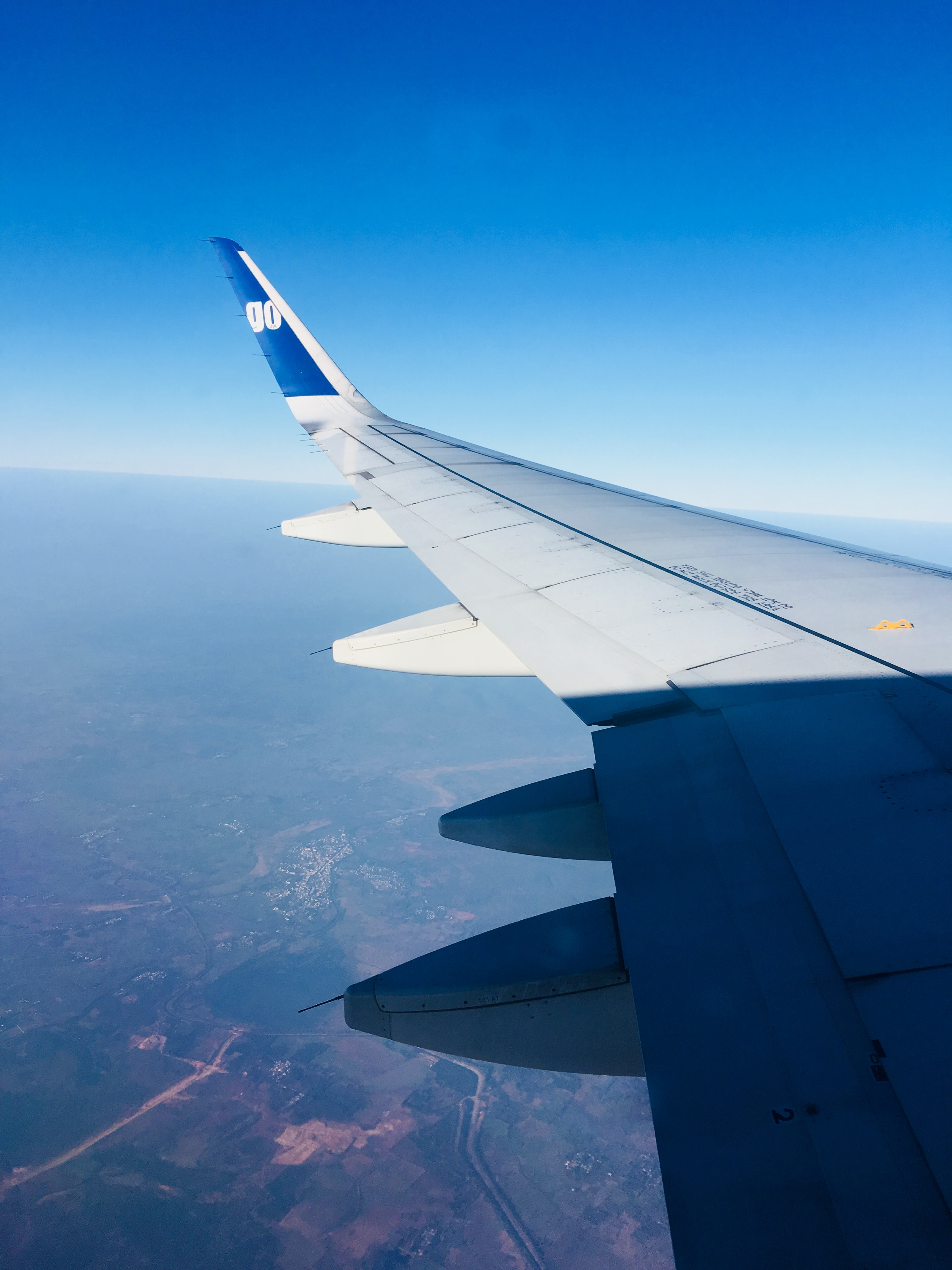 window view of wing's plane