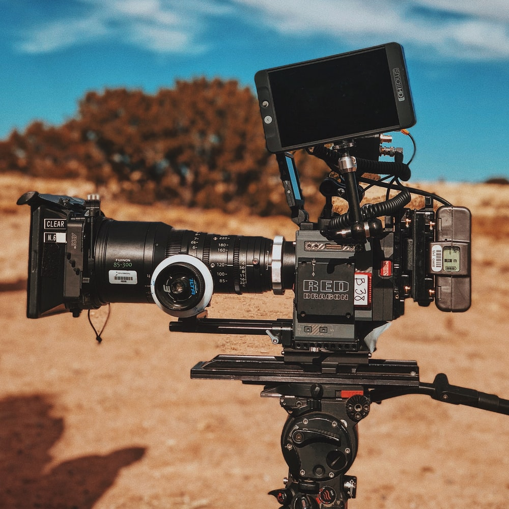shallow focus photography of video camcorder